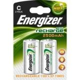Energizer C Size Rechargeable Batteries 2500 mAH (2 pack)